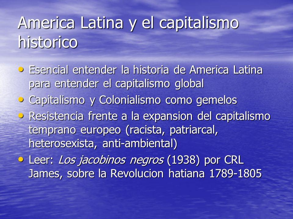 America Latina y el capitalismo historico