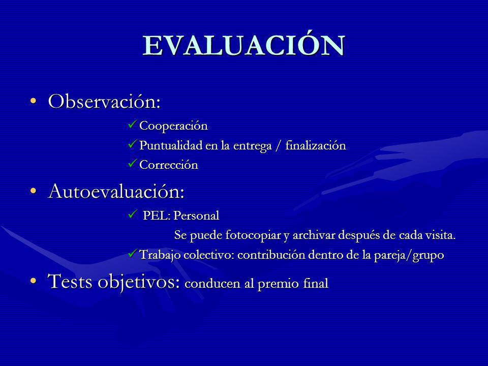 EVALUACIÓN Observación: Autoevaluación: