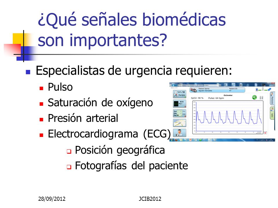 ¿Qué señales biomédicas son importantes
