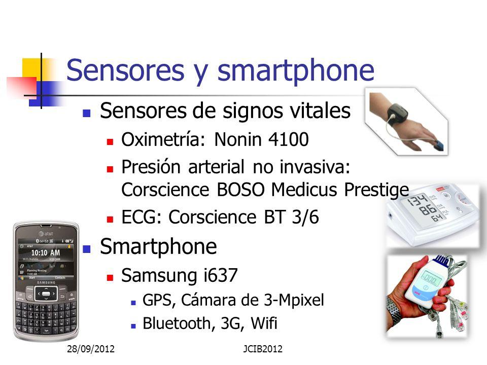 Sensores y smartphone Sensores de signos vitales Smartphone