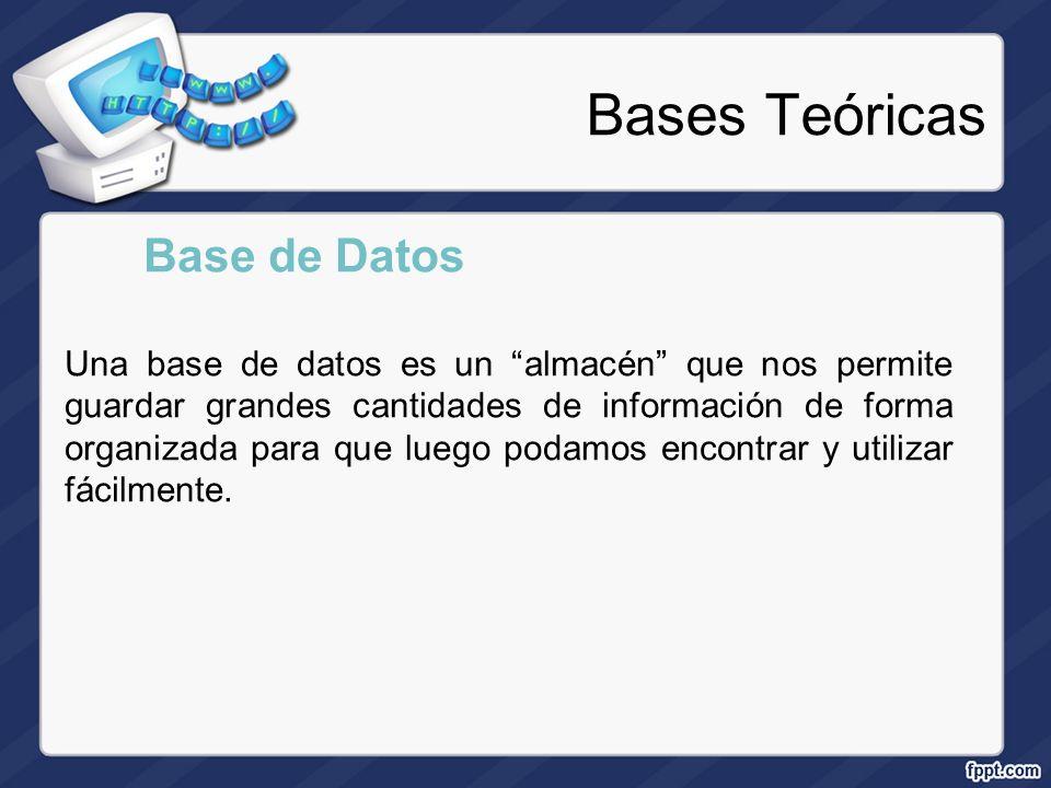 Bases Teóricas Base de Datos