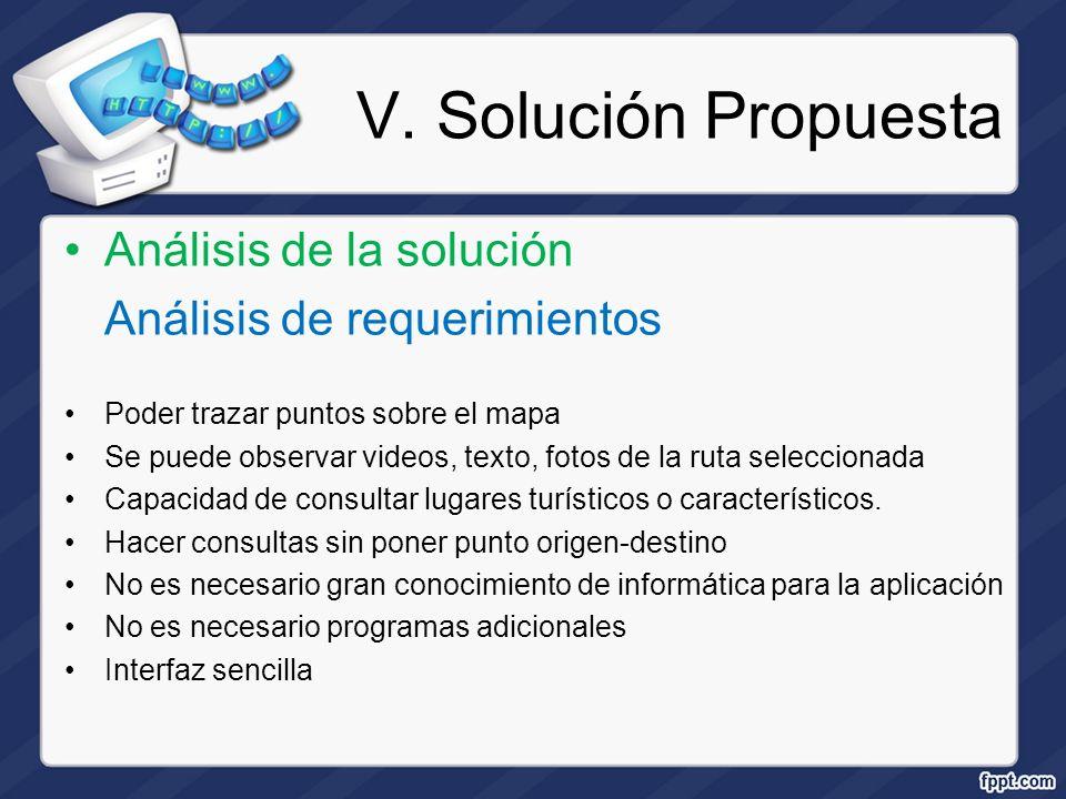 V. Solución Propuesta Análisis de la solución
