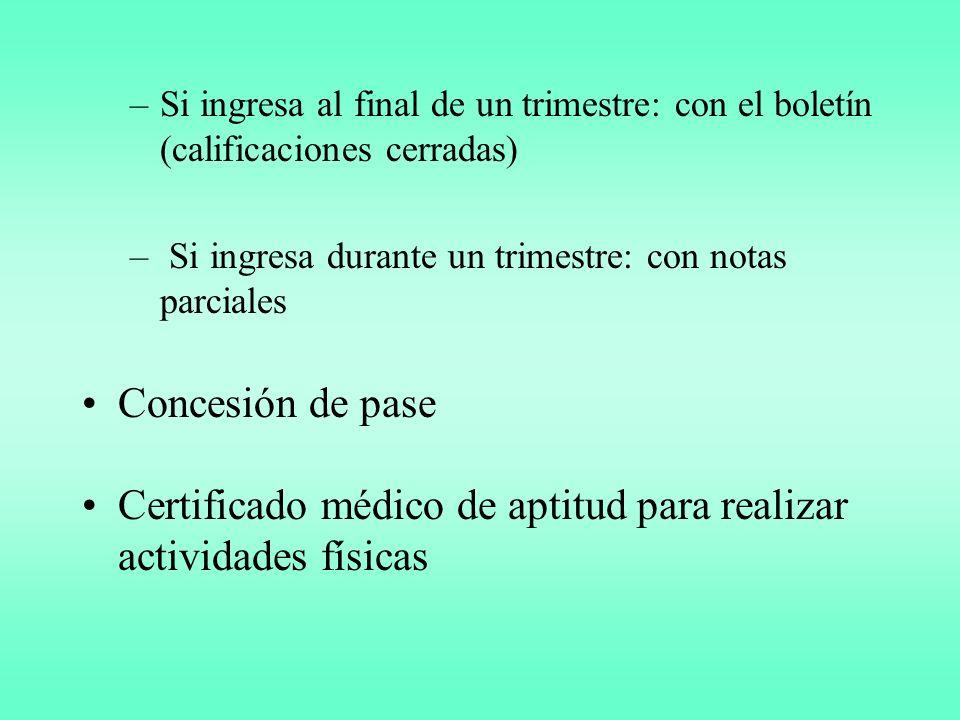 Certificado médico de aptitud para realizar actividades físicas
