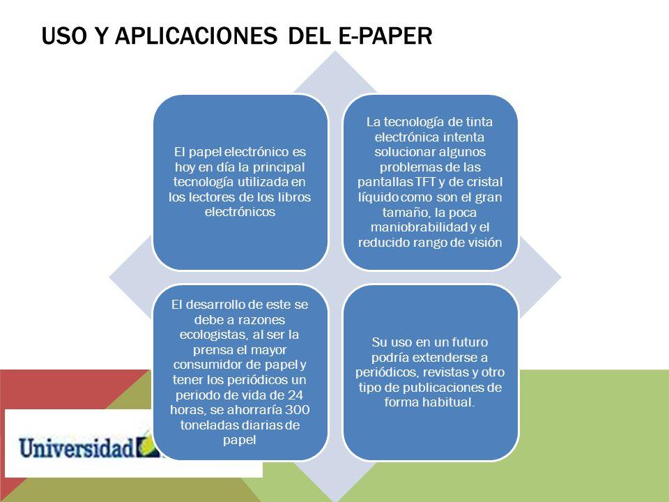 Uso y Aplicaciones del E-Paper