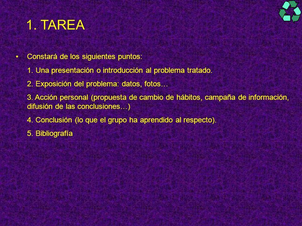 TAREA Constará de los siguientes puntos: