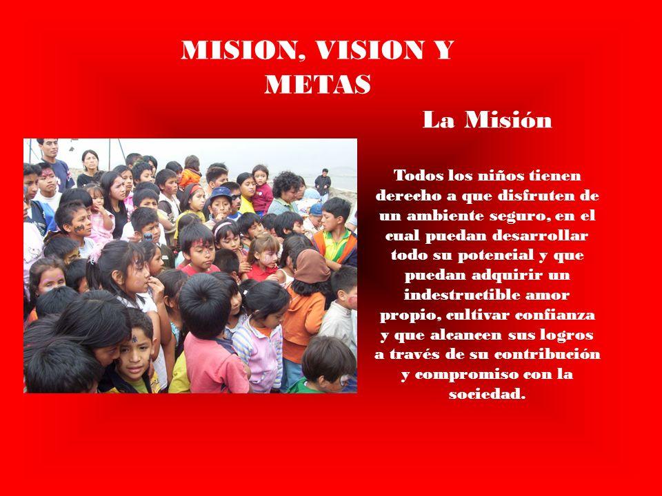 MISION, VISION Y METAS La Misión