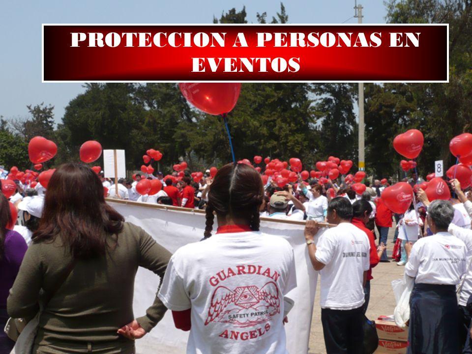 PROTECCION A PERSONAS EN EVENTOS