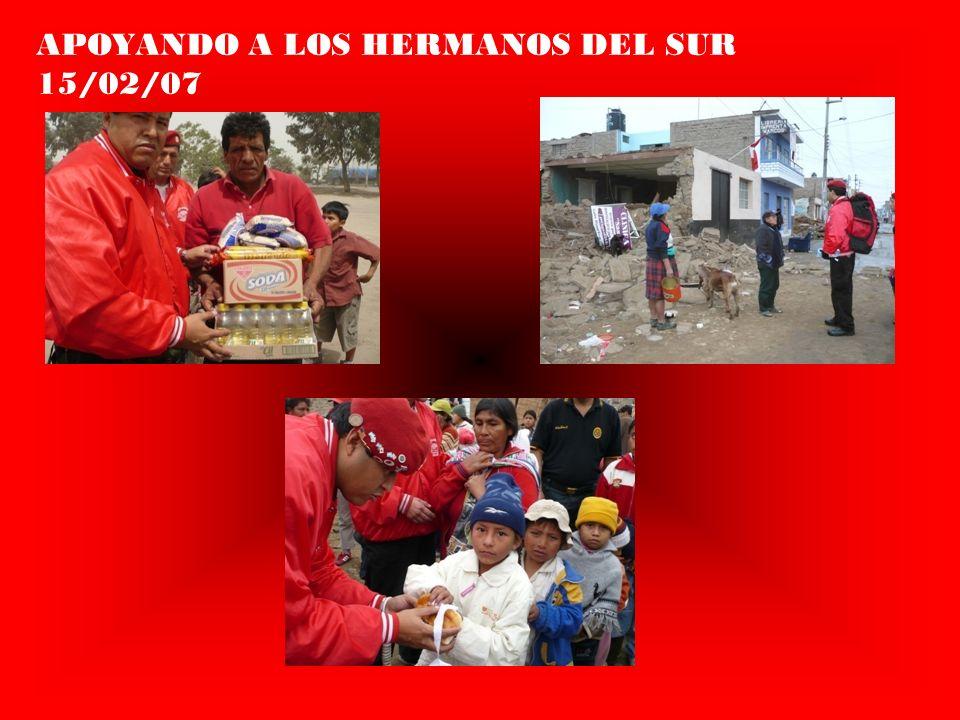 APOYANDO A LOS HERMANOS DEL SUR 15/02/07