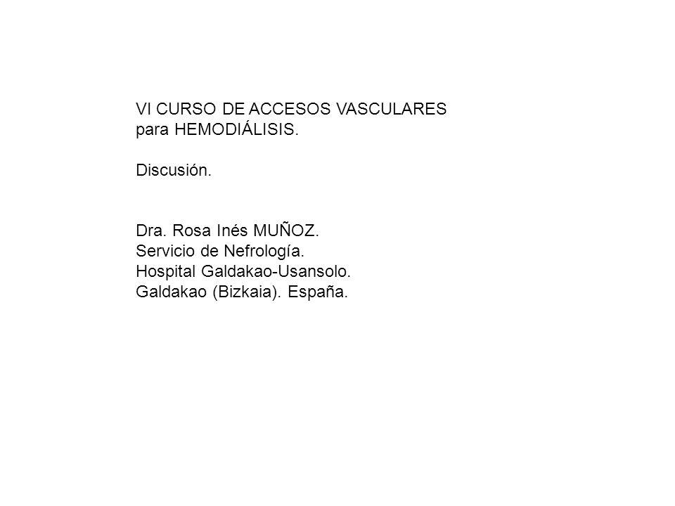VI CURSO DE ACCESOS VASCULARES