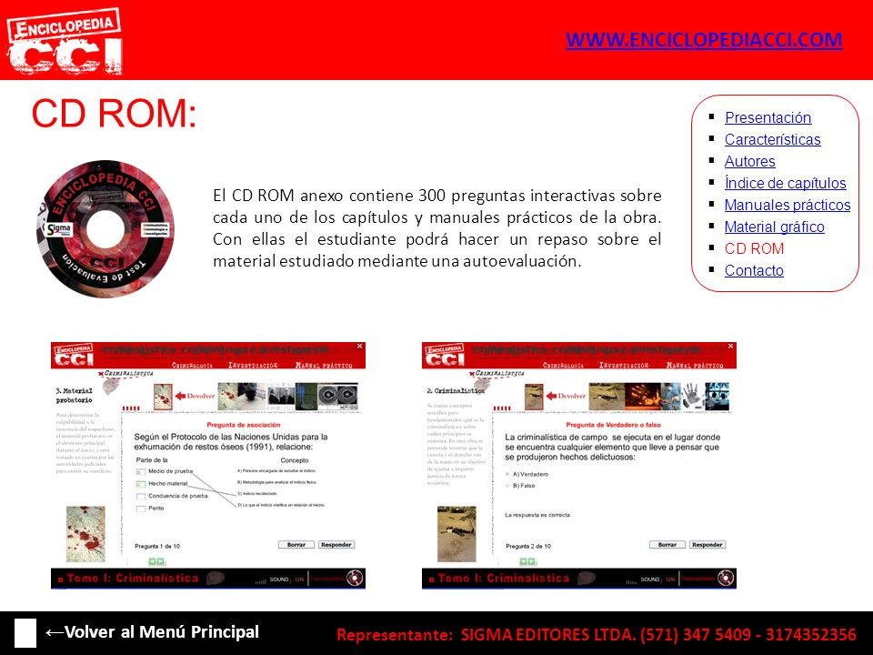 CD ROM: WWW.ENCICLOPEDIACCI.COM ←Volver al Menú Principal