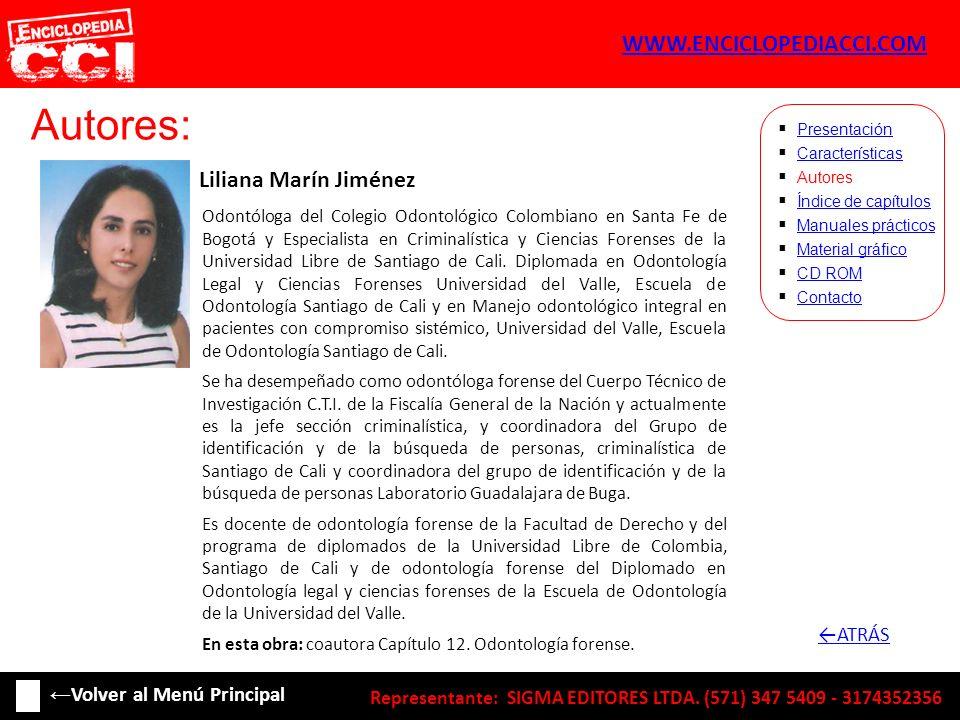 Autores: WWW.ENCICLOPEDIACCI.COM Liliana Marín Jiménez ←ATRÁS