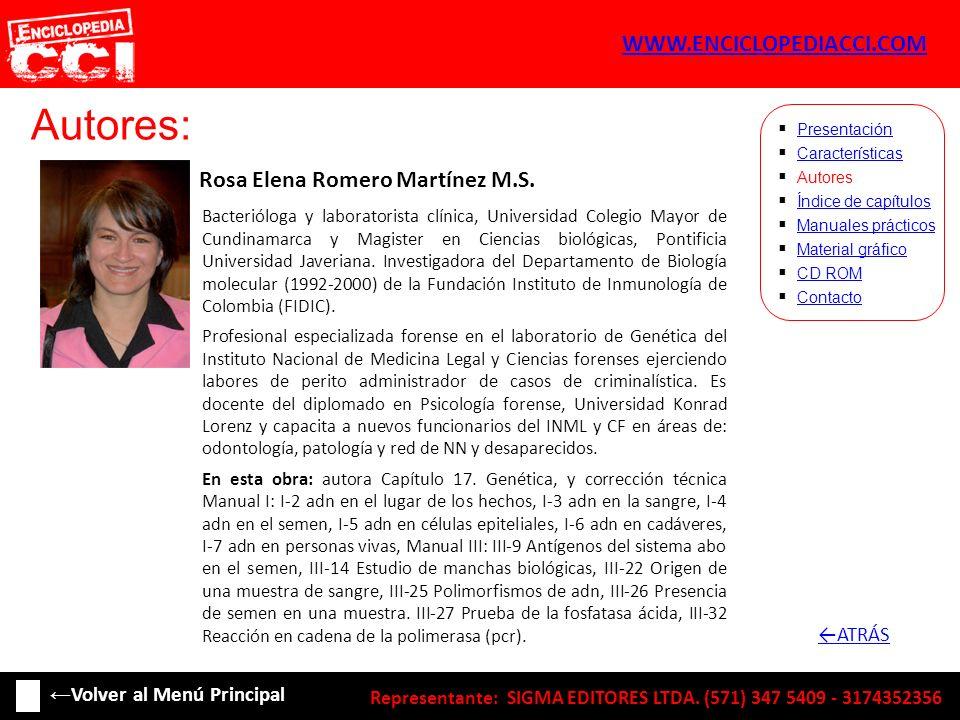 Autores: WWW.ENCICLOPEDIACCI.COM Rosa Elena Romero Martínez M.S.