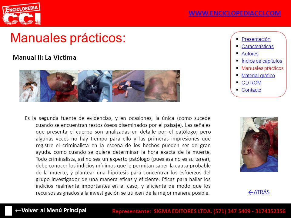 Manuales prácticos: WWW.ENCICLOPEDIACCI.COM Manual II: La Víctima