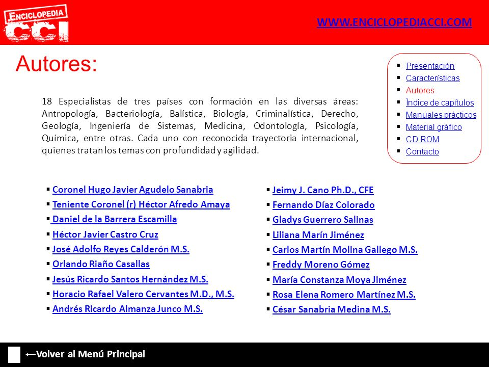 Autores: WWW.ENCICLOPEDIACCI.COM ←Volver al Menú Principal