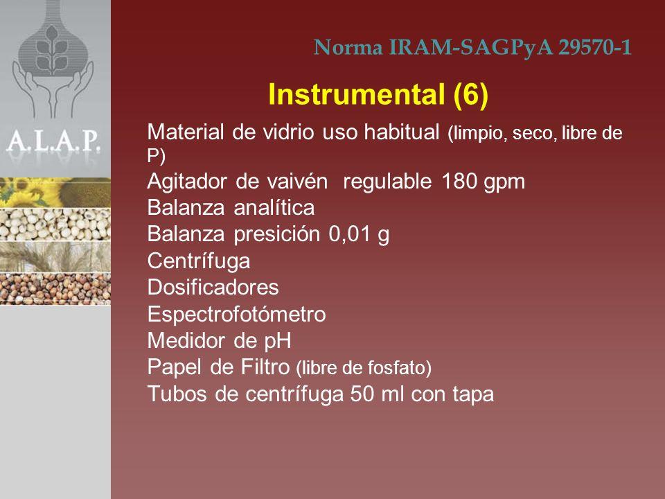 Instrumental (6) Norma IRAM-SAGPyA 29570-1