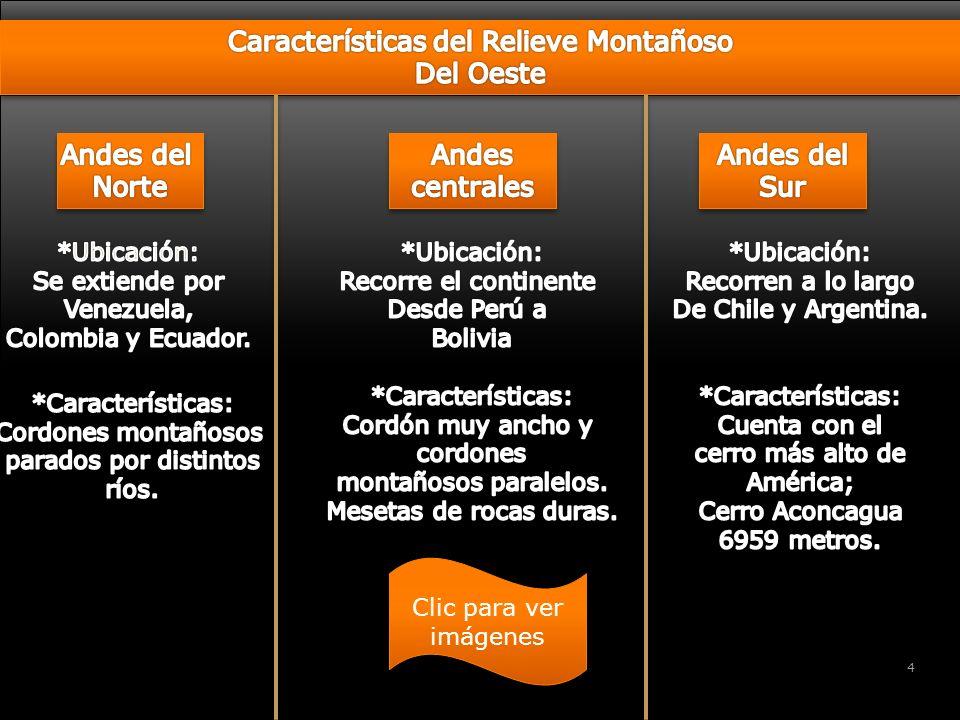 soy Características del Relieve Montañoso Del Oeste Andes del Norte