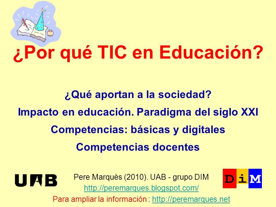 ¿Por qué TIC en Educación