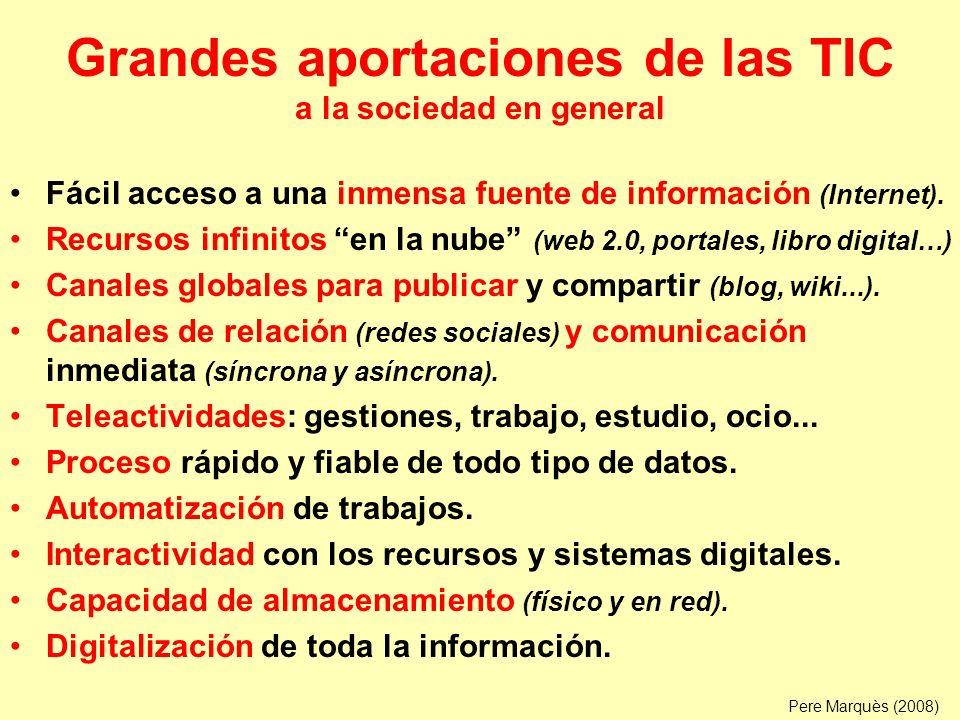 Grandes aportaciones de las TIC a la sociedad en general