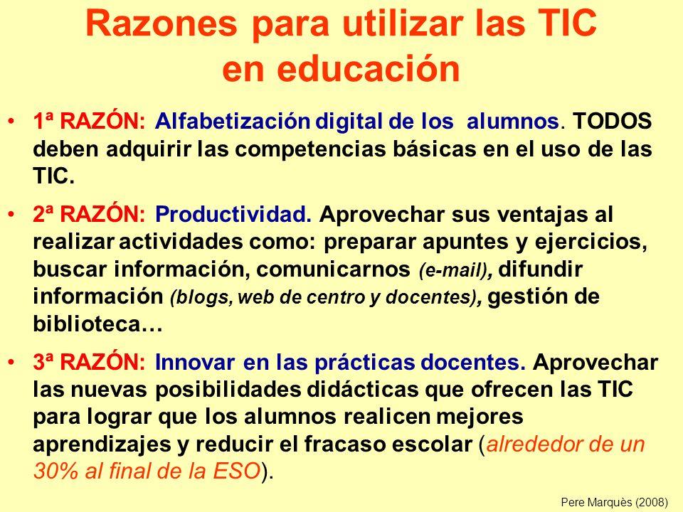Razones para utilizar las TIC en educación