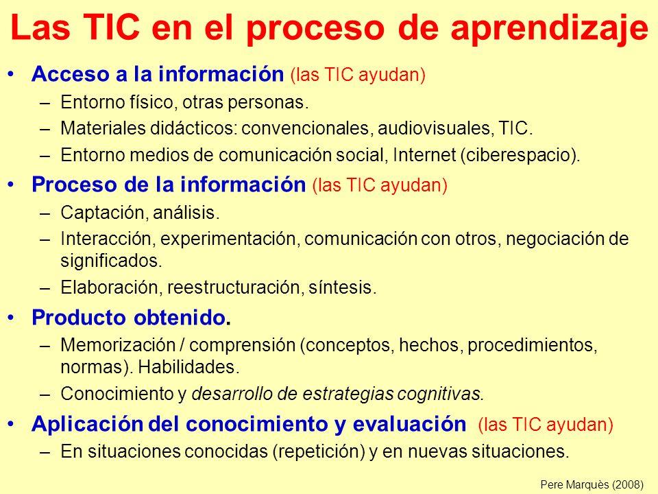Las TIC en el proceso de aprendizaje