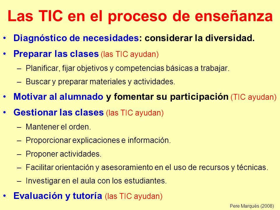 Las TIC en el proceso de enseñanza