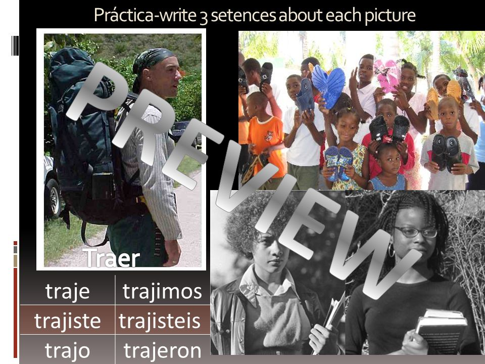 Práctica-write 3 setences about each picture