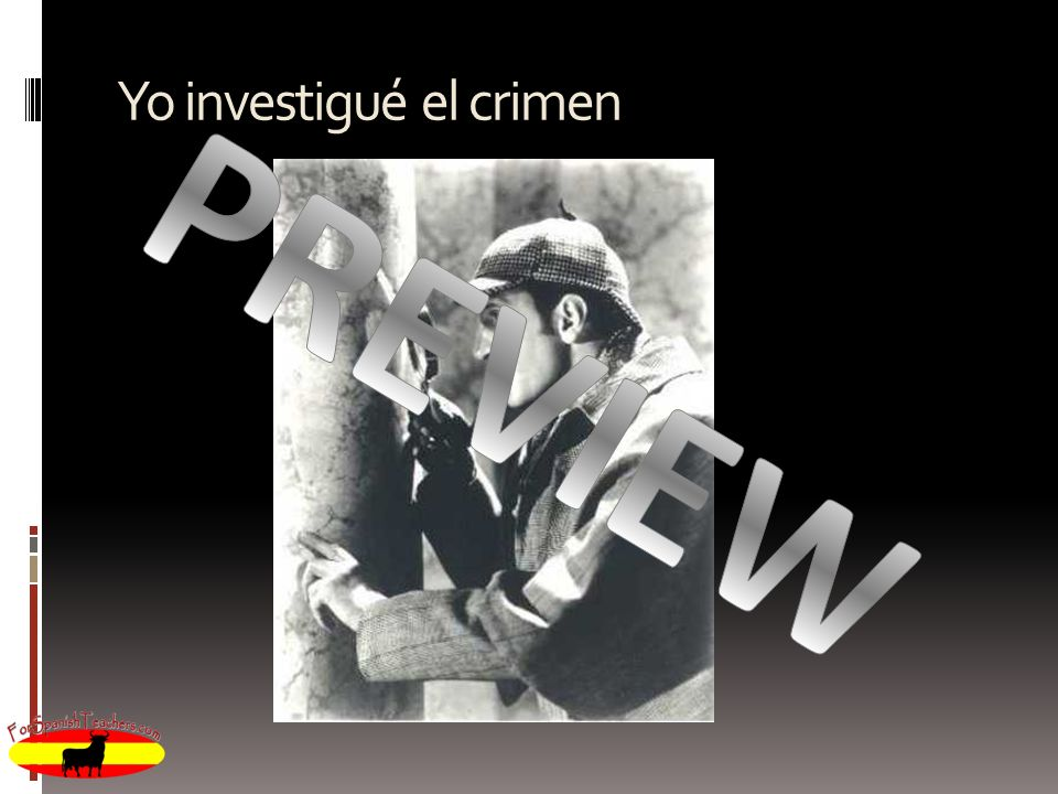 Yo investigué el crimen