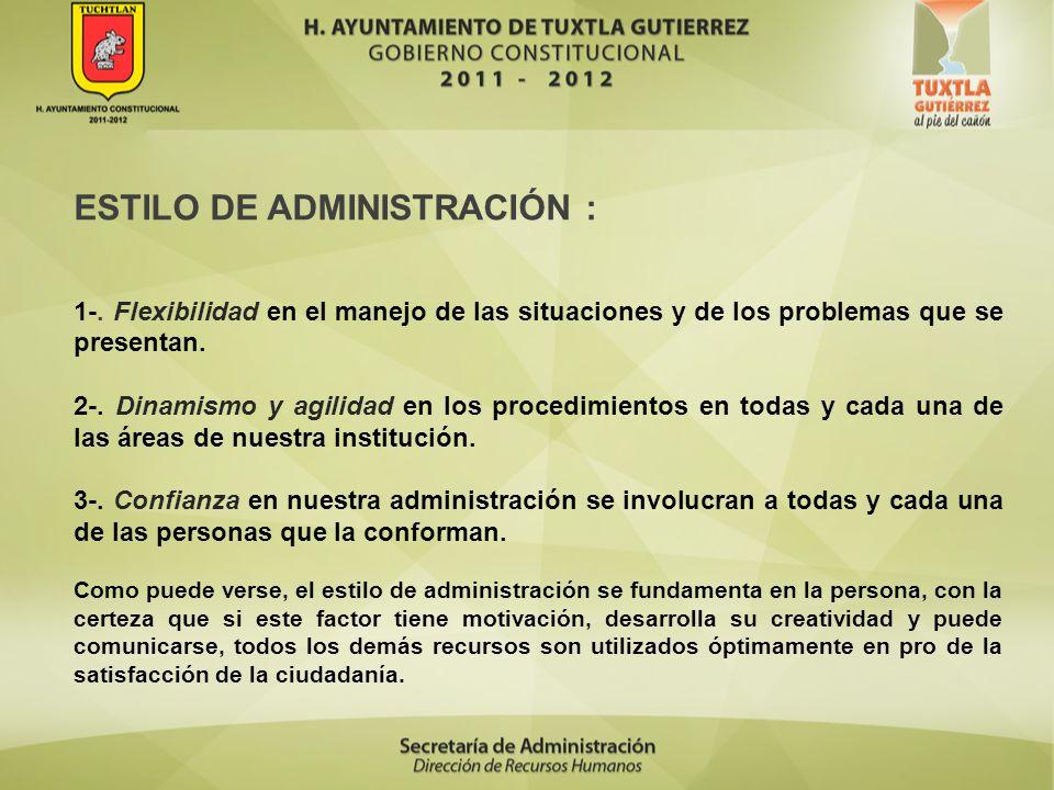 ESTILO DE ADMINISTRACIÓN :