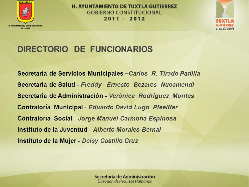 DIRECTORIO DE FUNCIONARIOS