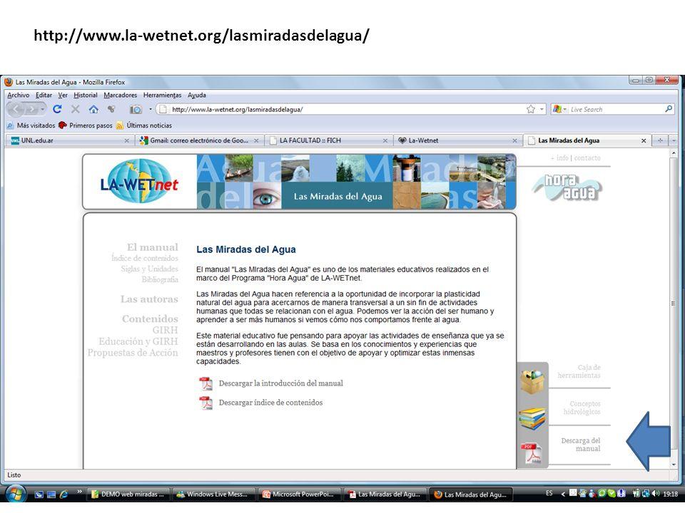 http://www.la-wetnet.org/lasmiradasdelagua/