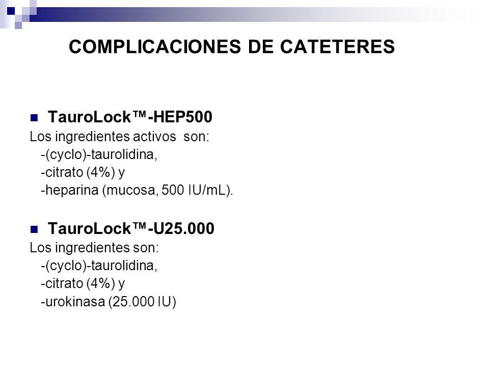 COMPLICACIONES DE CATETERES