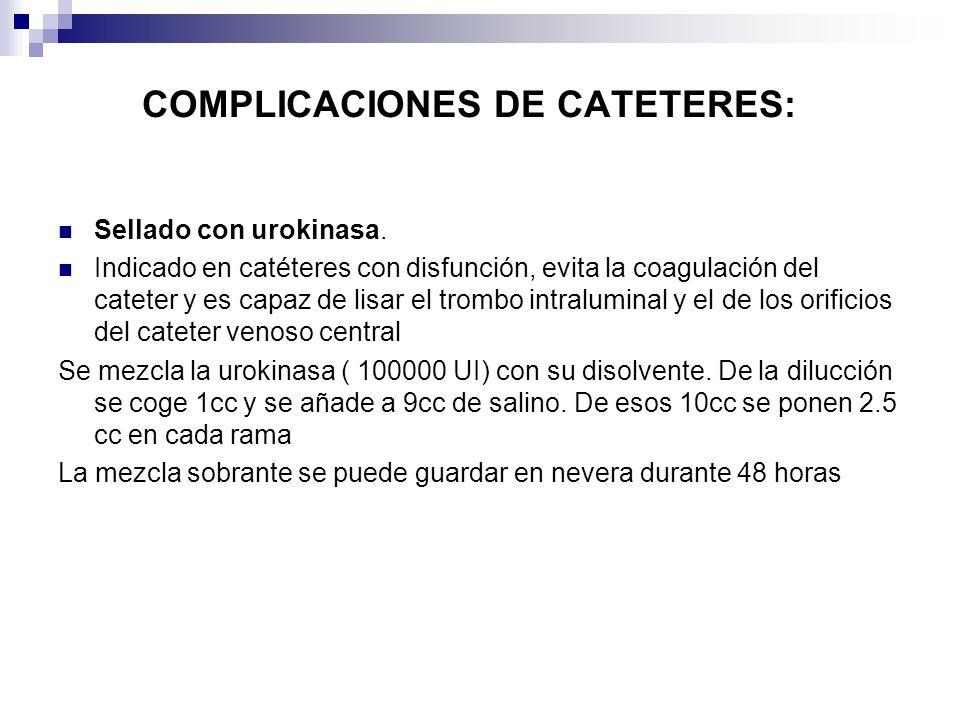 COMPLICACIONES DE CATETERES: