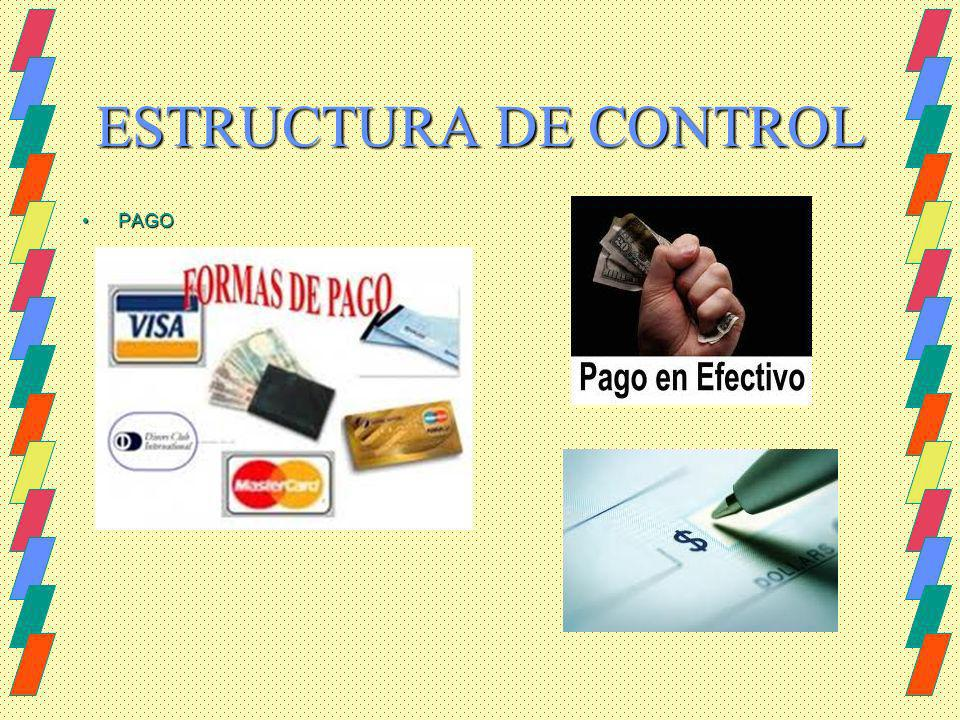 ESTRUCTURA DE CONTROL PAGO