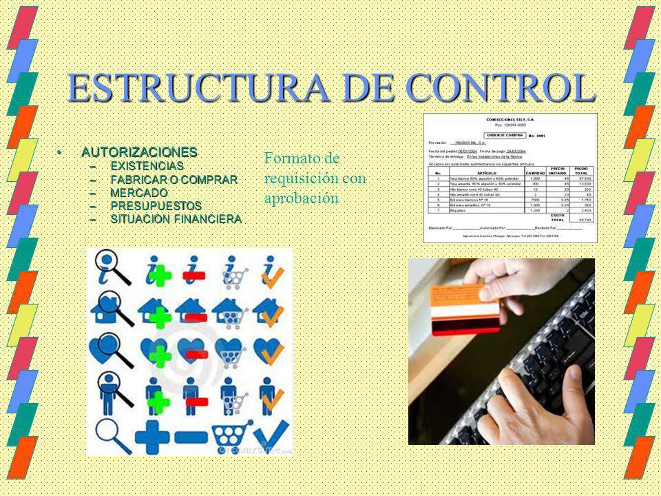 ESTRUCTURA DE CONTROL Formato de requisición con aprobación