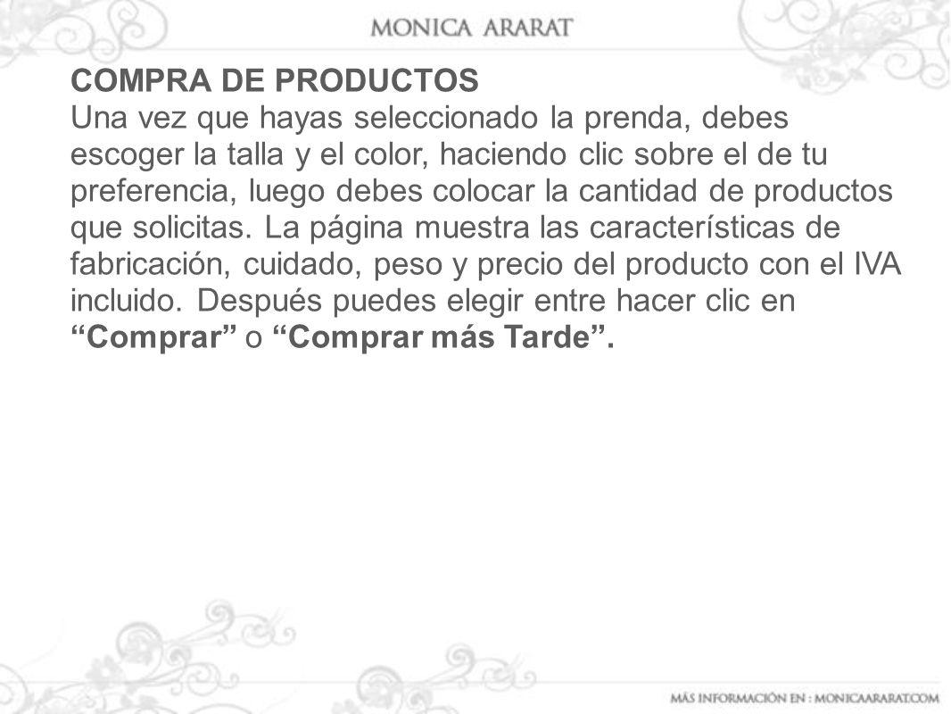 COMPRA DE PRODUCTOS
