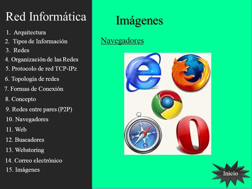 Red Informática Imágenes Navegadores 1. Arquitectura