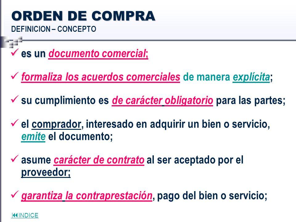 ORDEN DE COMPRA DEFINICION – CONCEPTO