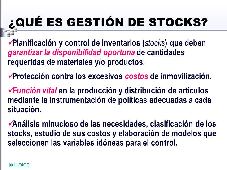 ¿QUÉ ES GESTIÓN DE STOCKS
