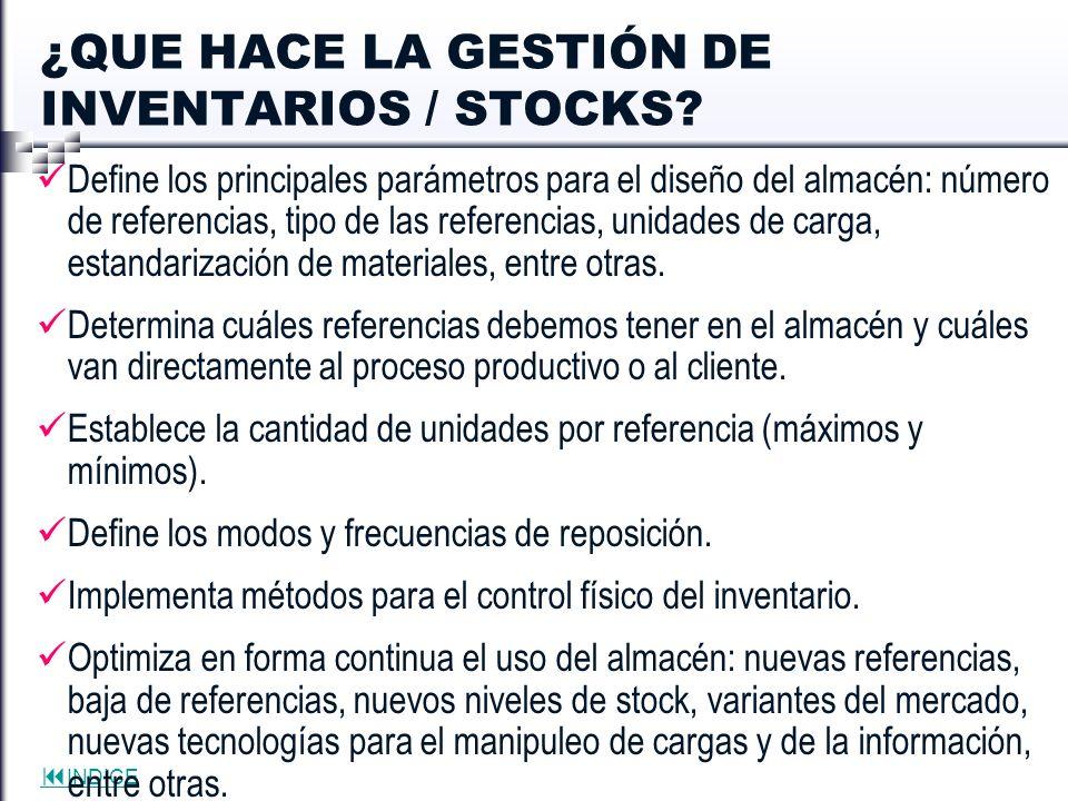 ¿QUE HACE LA GESTIÓN DE INVENTARIOS / STOCKS