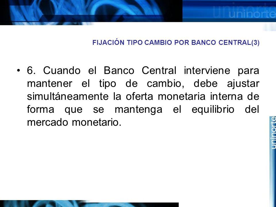 FIJACIÓN TIPO CAMBIO POR BANCO CENTRAL(3)