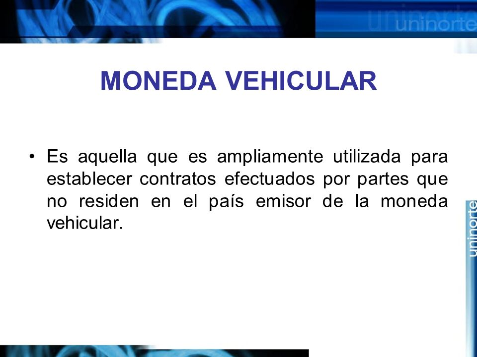 MONEDA VEHICULAR