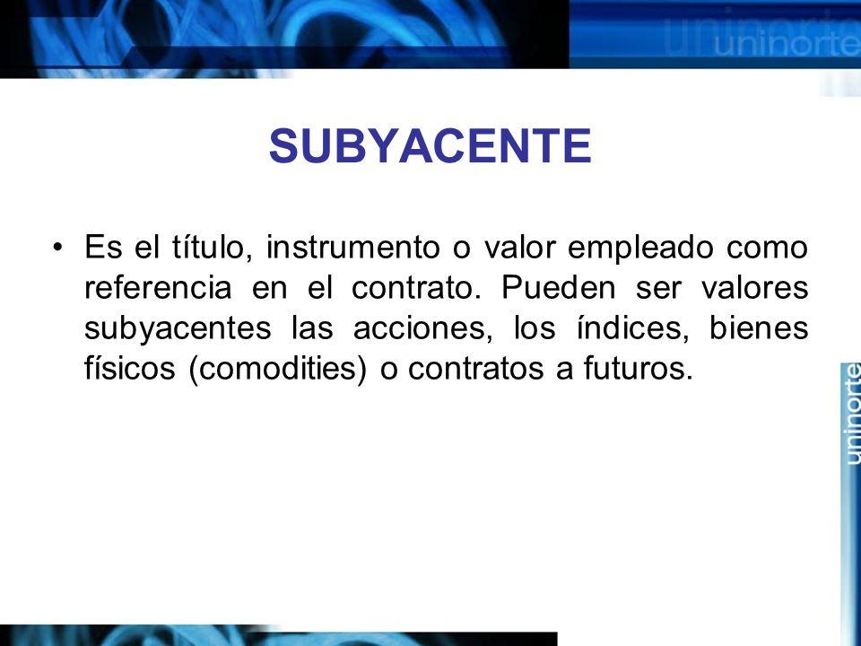 SUBYACENTE