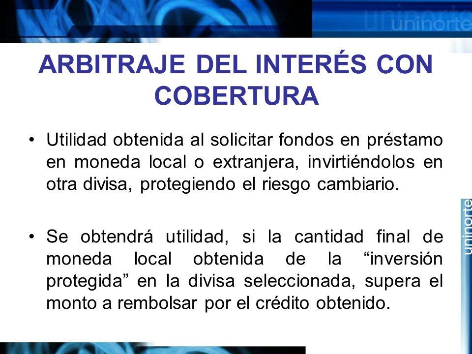 ARBITRAJE DEL INTERÉS CON COBERTURA