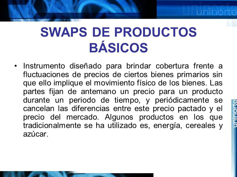SWAPS DE PRODUCTOS BÁSICOS