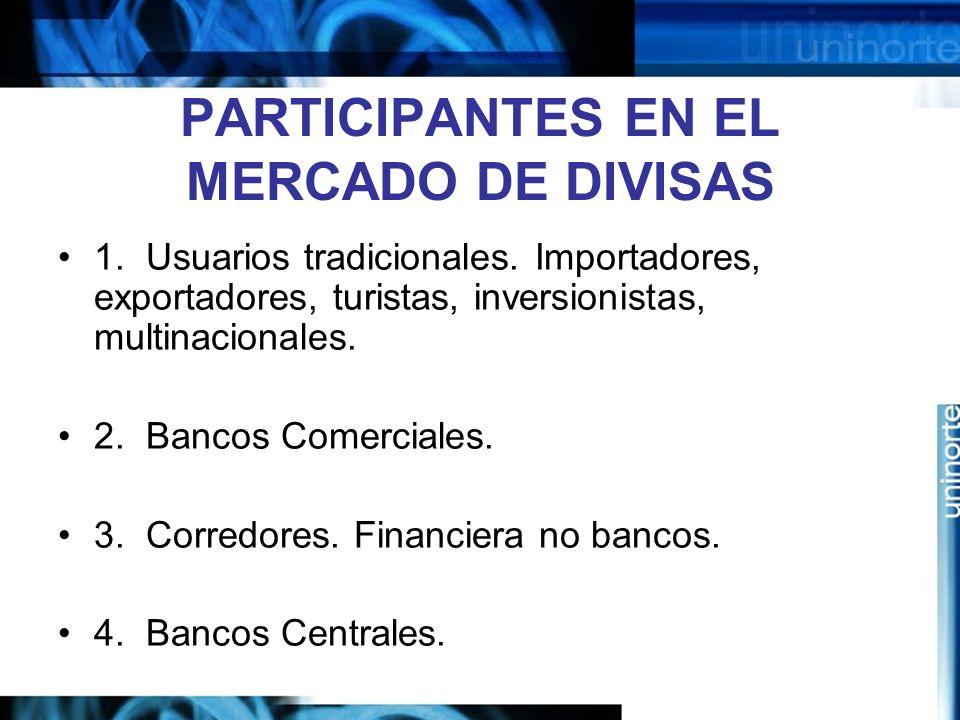 PARTICIPANTES EN EL MERCADO DE DIVISAS