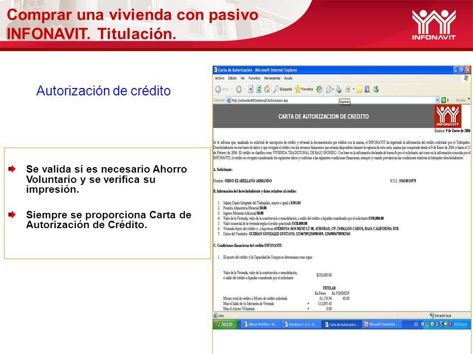 Autorización de crédito