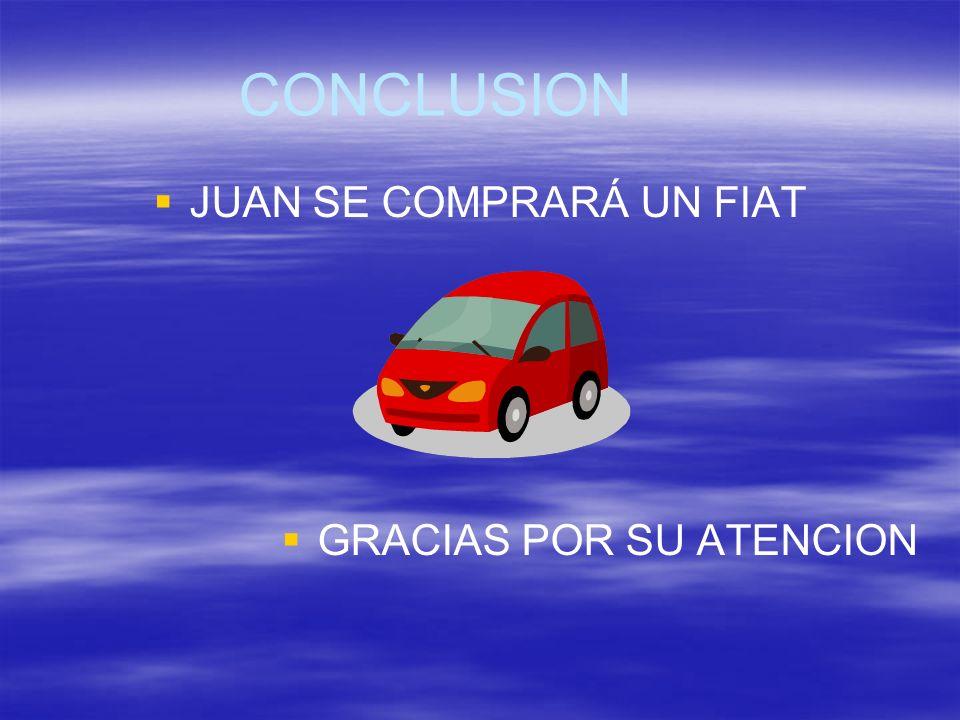 JUAN SE COMPRARÁ UN FIAT