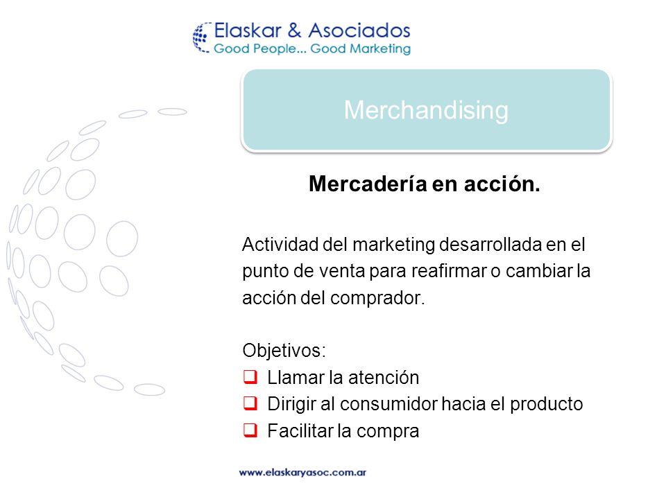 Merchandising Mercadería en acción.