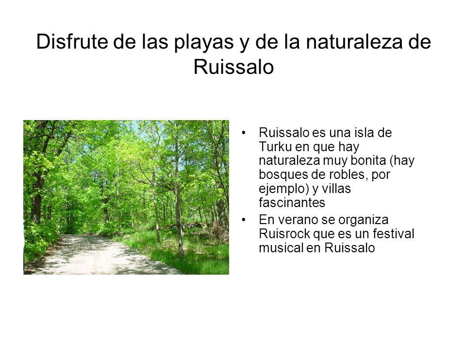 Disfrute de las playas y de la naturaleza de Ruissalo