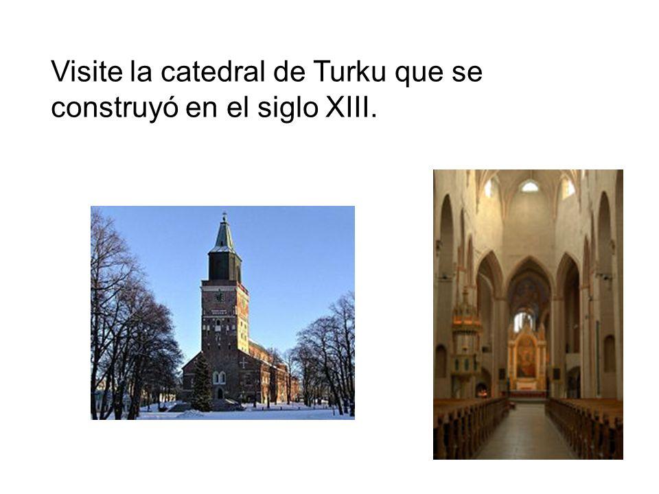 Visite la catedral de Turku que se construyó en el siglo XIII.